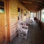 Bar Lazy J Cabin Porch